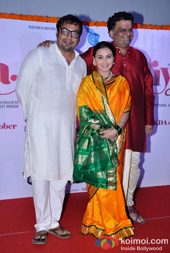 Rani Mukerji Attends The First Look Launch of Aiyyaa at Cinemax, Mumbai.