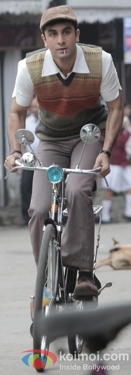 Ranbir Kapoor in a Still from Barfi! Movie