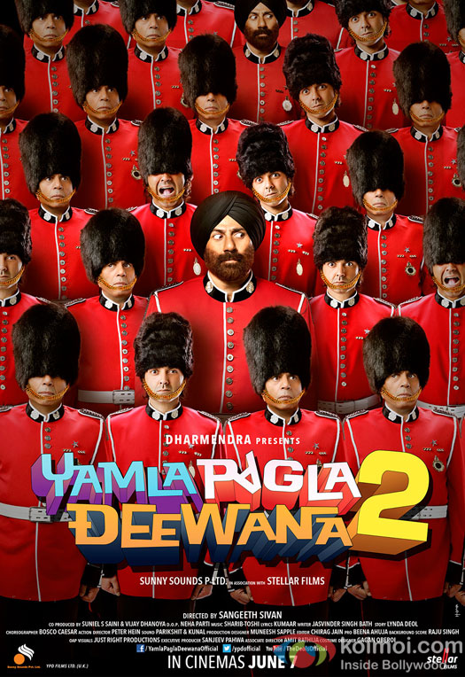 Dharmendra, Sunny Deol and Bobby Deol in Yamla Pagla Deewana 2 Movie Poster 7