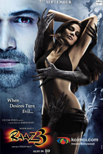 Emraan Hashmi and Bipasha Basu In Raaz 3 Movie Review (Movie Poster)