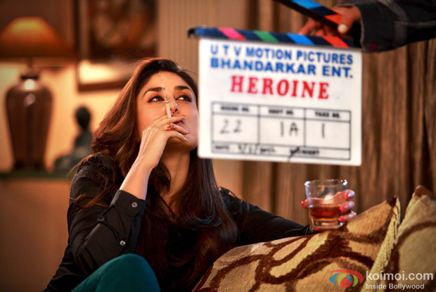 Kareena Kapoor on the sets of Heroine Movie