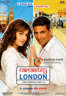 Katrina Kaif And Akshay Kumar In Namastey London Movie Poster