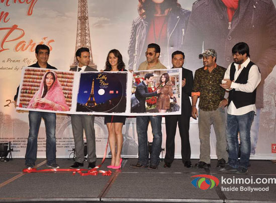 Kishan Kumar, Rhehan Malliek, Preity Zinta, Salman Khan, Prem Raj, Sajid Ali, Wajid Ali At Ishkq In Paris Music Launch