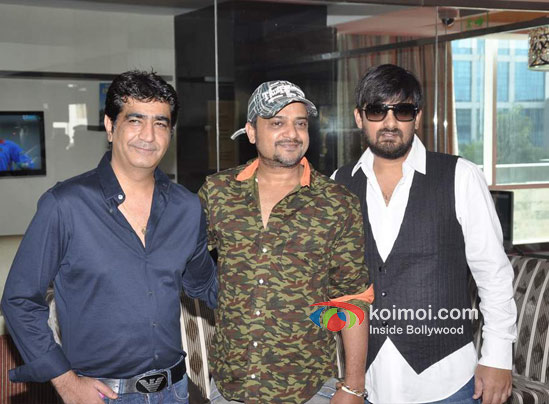 Kishan Kumar, Sajid Ali, Wajid Ali At Ishkq In Paris Music Launch