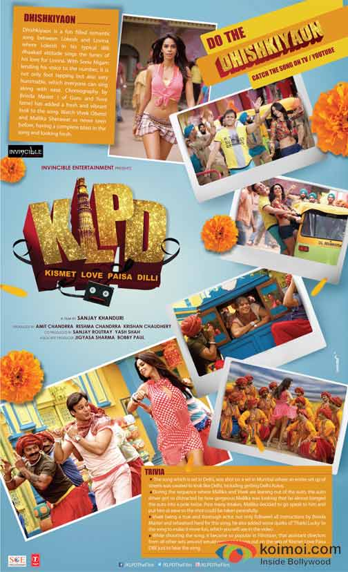 Mallika Sherawat and Vivek Oberoi (Kismet (Kismat) Love Paisa Dilli KLPD Movie Poster)