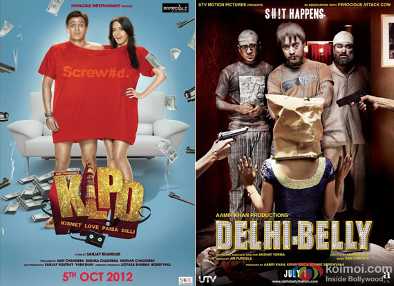 Kismet (Kismat) Love Paisa Dilli and Delhi Belly Movie Posters