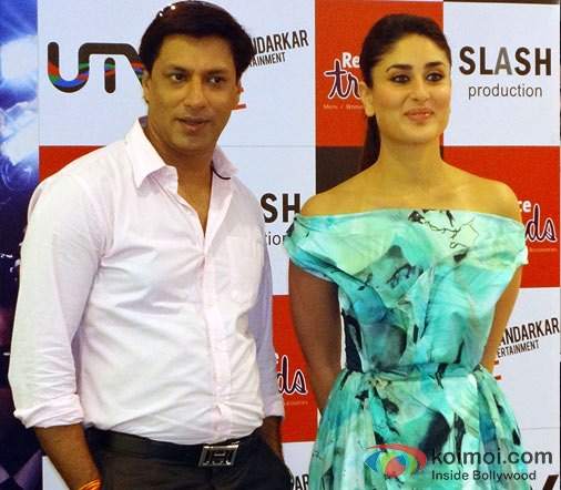 Madhur Bhandarkar and Kareena Kapoor At The Main Heroine Hoon Song Launch In Mumbai