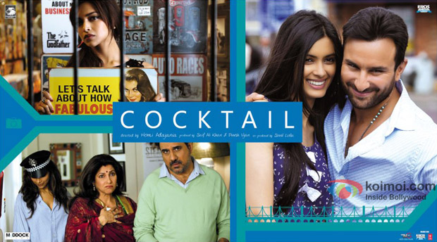 Saif Ali Khan, Deepika Padukone and Diana Peny starrer Cocktail Movie Poster