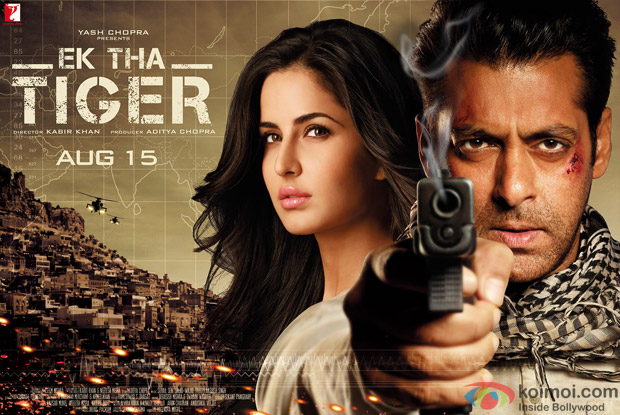 Salman Khan and Katrina Kaif starrer Ek Tha Tiger Movie Poster