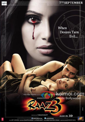 Emraan Hashmi, Bipasha Basu and Esha Gupta starrer Raaz 3 Movie Poster
