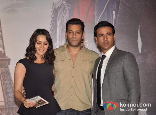 Preity Zinta, Salman Khan, Rhehan Malliek At Ishkq In Paris Music Launch
