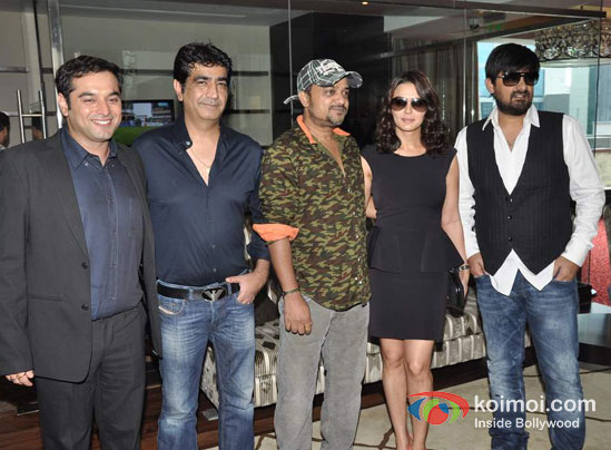 Prem Raj, Kishan Kumar, Sajid Ali, Preity Zinta, Wajid Ali, At Ishkq In Paris Music Launch