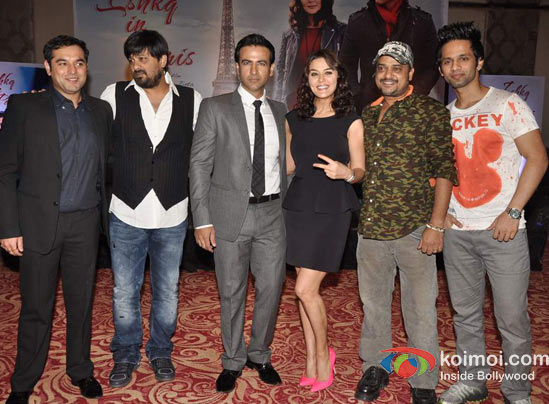 Prem Raj, Wajid Ali, Rhehan Malliek,  Preity Zinta, Sajid Ali, Rahul Vaidya At Ishkq In Paris Music Launch