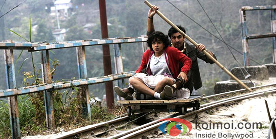 Priyanka Chopra and Ranbir Kapoor (Barfi! Movie Stills)