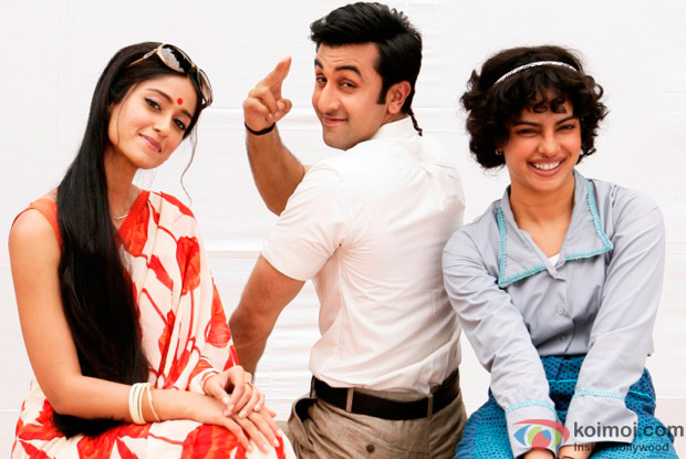 Ileana D'Cruz, Ranbir Kapoor, Priyanka Chopra in a Barfi! Movie