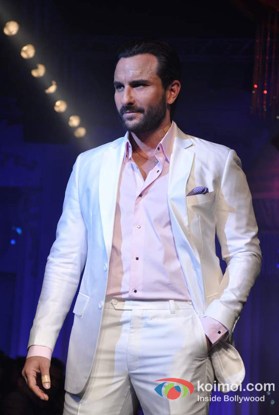 Saif Ali Khan Walks The Ramp For Aamby Valley India Bridal Fashion Week 2012 Day 2