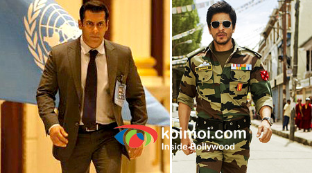 Salman Khan In Ek Tha Tiger Movie And Shah Rukh Khan In Jab Tak Hai Jaan Movie
