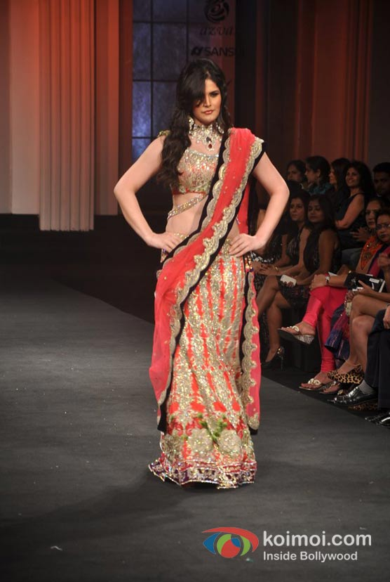 Zarine Khan Walk For Shane and Falguni Peacock