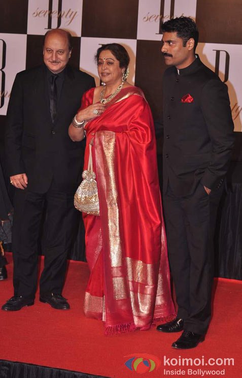 Anupam Kher And Kirron Kher At Amitabh Bachchan's 70th Birthday Bash