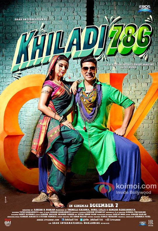 Asin And Akshay Kumar starrer Khiladi 786 Movie Poster