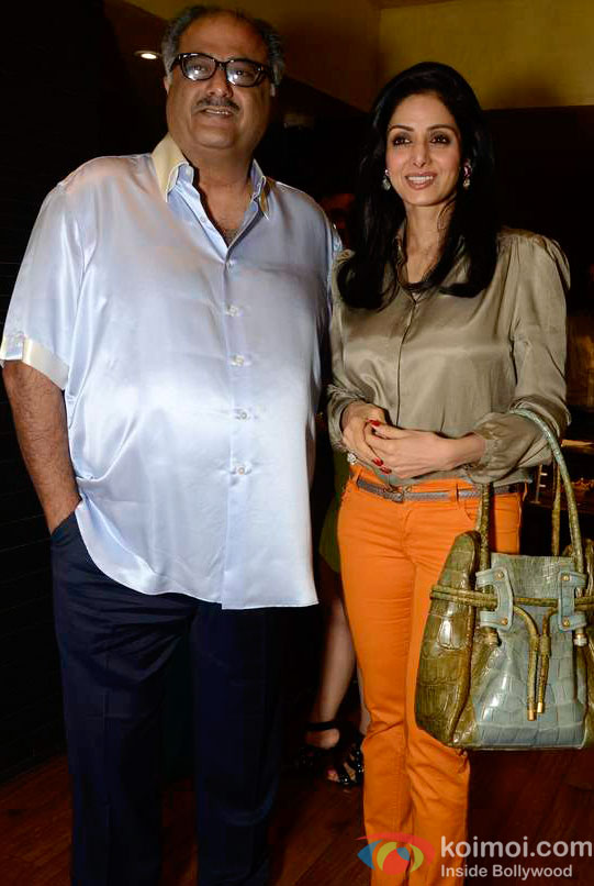 Boney Kapoor and Sridevi At Maheep Kapoor's Festive Collection Launch