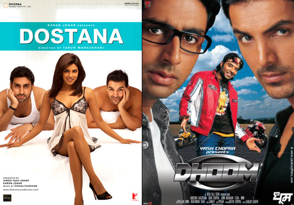 Dostana And Dhoom Movie Posters