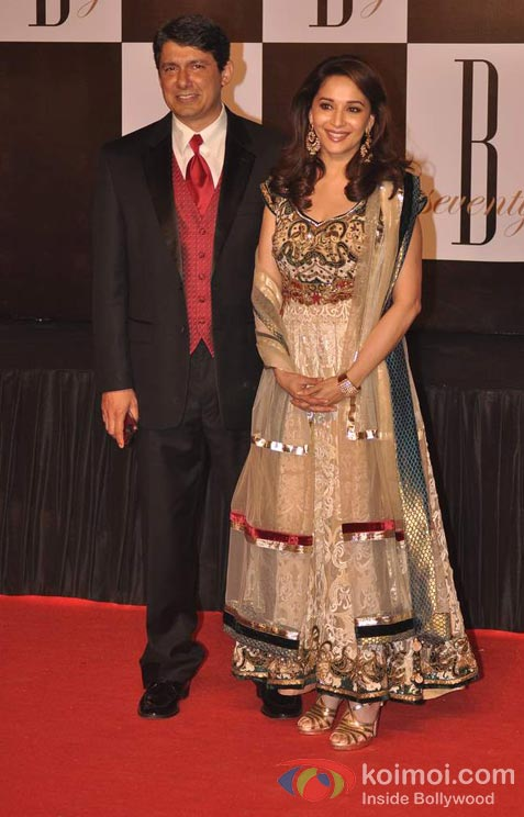 Dr. Shriram Nene And Madhuri Dixit At Amitabh Bachchan's 70th Birthday Bash