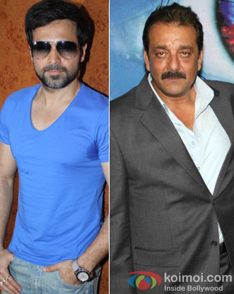 Emraan Hashmi and Sanjay Dutt