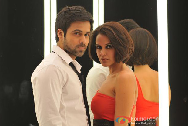 Emraan Hashmi and Neha Dhupia in a still from Rush Movie