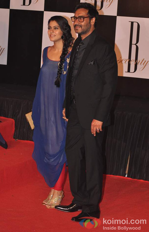 Kajol And Ajay Devgan At Amitabh Bachchan's 70th Birthday Bash