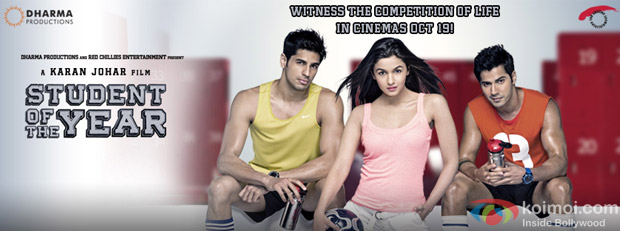 Sidharth Malhotra, Alia Bhatt and Varun Dhawan from Student Of The Year Movie