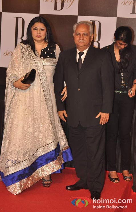 Kiran Juneja And Ramesh Sippy At Amitabh Bachchan's 70th Birthday Bash