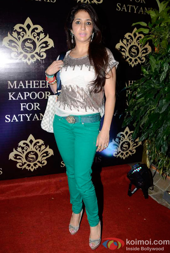 Krishika Lulla At Maheep Kapoor's Festive Collection Launch
