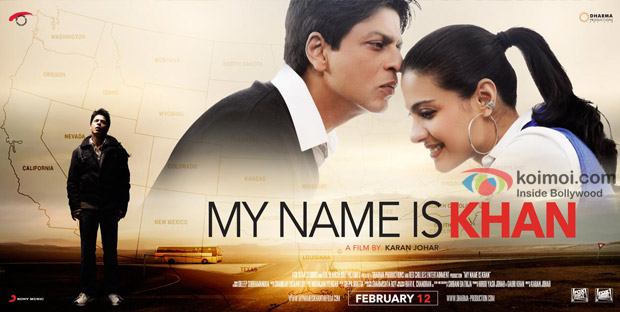 Shah Rukh Khan and Kajol in My Name Is Khan Movie Poster Wallpaper