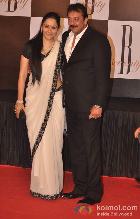 Manyata Dutt And Sanjay Dutt At Amitabh Bachchan's 70th Birthday Bash