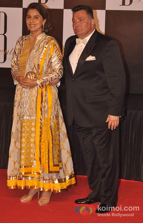 Neetu Kapoor And Rishi Kapoor At Amitabh Bachchan's 70th Birthday Bash
