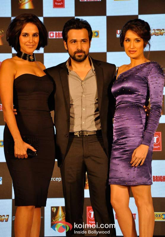 Neha Dhupia, Emraan Hashmi And Sagarika Ghatge At Rush Movie Music Launch Pic 1