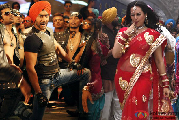 Ajay Devgan from Son Of Sardaar Title Song & Sonakshi Sinha from Rani Mein Tu Raja Song in Son Of Sardaar (Son Of Srdar) Movie Stills