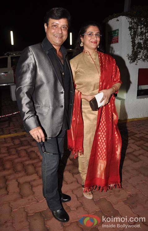 Sachin Pilgaonkar And Supriya Pilgaonkar At Amitabh Bachchan's 70th Birthday Bash