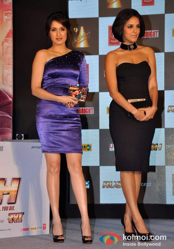 Sagarika Ghatge And Neha Dhupia At Rush Movie Music Launch