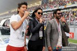 Shaan, Sonakshi Sinha And Ajay Devgn Promoting Son Of Sardaar Movie At Formula One Indian Grand Prix