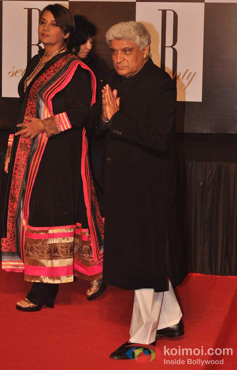 Shabana Azmi And Javed Akhtar At Amitabh Bachchan's 70th Birthday Bash