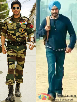 Shah Rukh Khan from Jab Tak Hai Jaan and Ajay Devgan from Son Of Sardaar