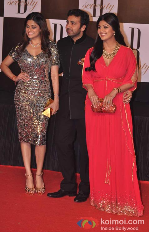 Shamita Shetty, Raj Kundra And Shilpa Shetty At Amitabh Bachchan's 70th Birthday Bash
