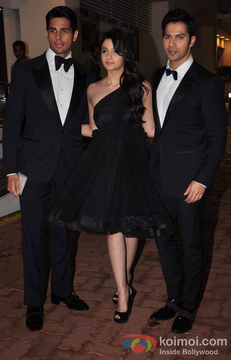 Sidharth Malhotra, Alia Bhatt And Varun Dhawan At Amitabh Bachchan's 70th Birthday Bash