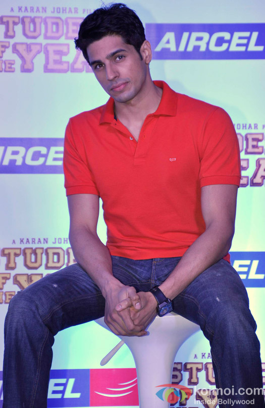 Sidharth Malhotra at Student Of The Year Movie Promotional Event