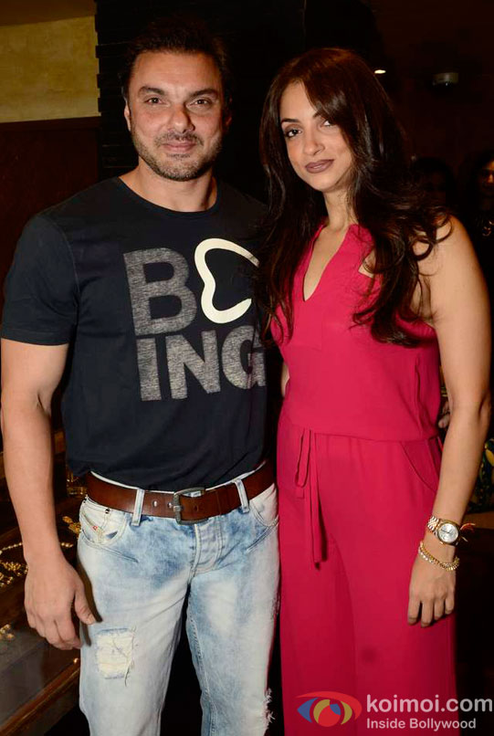 Sohail Khan and Seema Khan At Maheep Kapoor's Festive Collection Launch