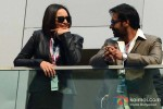 Sonakshi Sinha And Ajay Devgn Promoting Son Of Sardaar Movie At Formula One Indian Grand Prix Pic 1