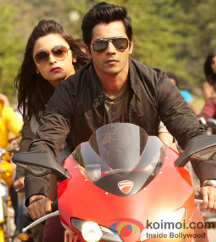 Alia Bhatt and Varun Dhawan in a still from Student Of The Year Movie