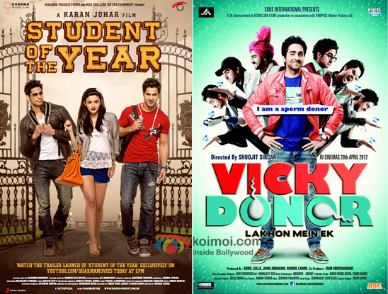 Student Of The Year And Vicky Donor Movie Posters